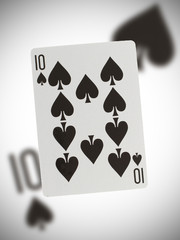 Playing card, ten of spades