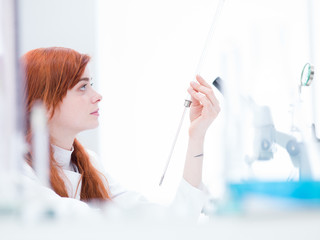 woman in chemistry lab