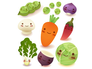 Fruit and vegetable Collection Vector File EPS10