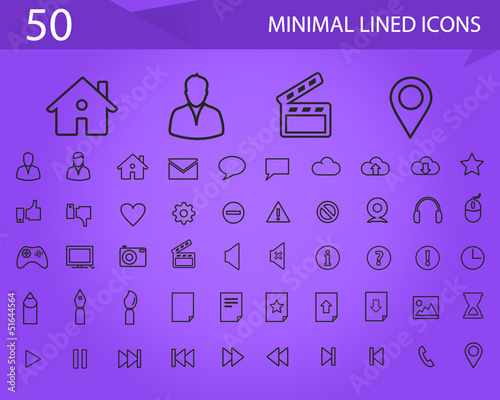 50 Minimal Lined icons