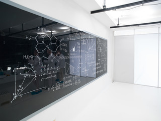 chemistry lab blackboard