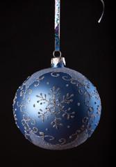 Blue Christmas glob.