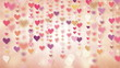 dangling pink hearts loopable background