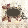 Elegant floral invitation  background with banner for text