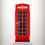 English red telephone booth