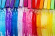 Colorful chalk pastels education, arts,creative.