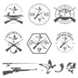 Set of vintage hunting and fishing labels and design elements - 51646787