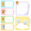 vector illustration of cute animal label sticker
