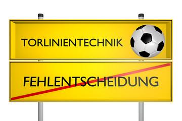 Fehlentscheidung vs Torlinientechnik_konzept Sport_Technik - 3D