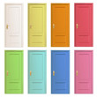 Collection of colorful doors