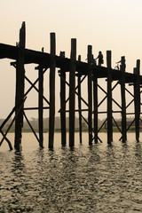 U bein, worlds longest wooden bridge, in Myanmar