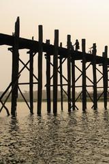 U bein, worlds longest wooden bridge, in Myanmar