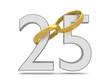 Silberhochzeit_Eheringe in Gold - 3D