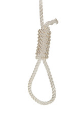 Hanging noose on a white rope
