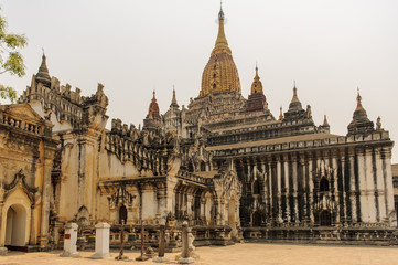 Ananda pagoda of Bagan, Myanmar