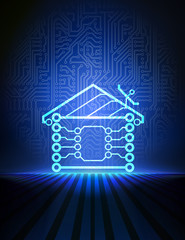Vector home automation background