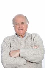 Portrait of balding man