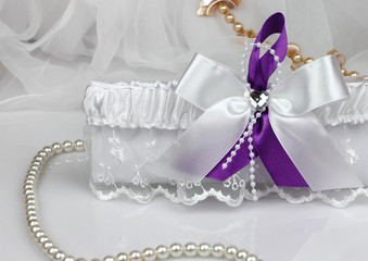 wedding accessories on white