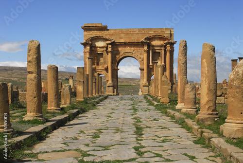 Staande foto Algerije Arc de Trajan-Site de Timgad-Algerie