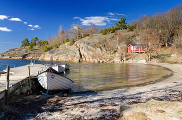 April season on Swedish sea coast