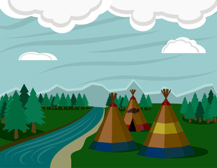 Native American Landscape