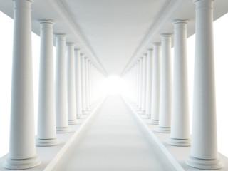Corridor and columns