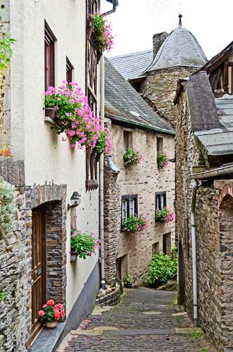 Leinwandbild Motiv Touristic village of beilstein in Germany at the mosel
