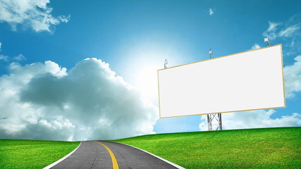 Blank billboard stock footage