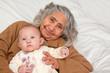 Great Grandma Holding Baby