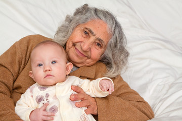Great Grandma Holding Baby