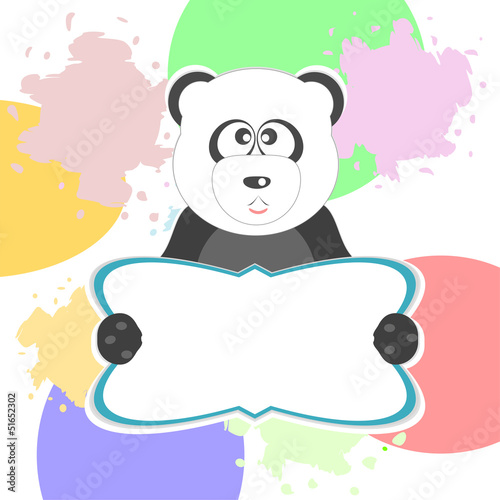cute panda with text box