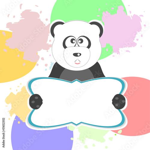 cute panda with text box