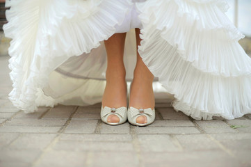 Bride Showing Her Shoes