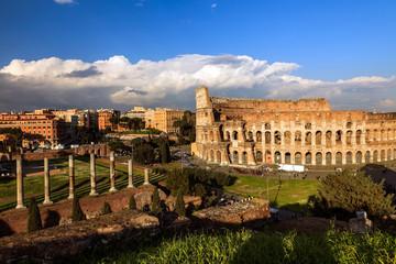 Vue sur le Colisée en Italie.