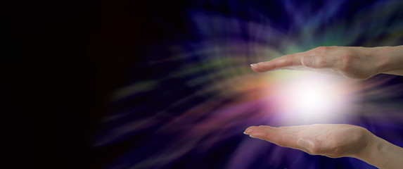 Energy healer's website header