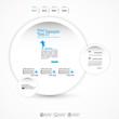 Abstract bubble web design , vector