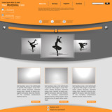 Orange and gray elegant Website Template