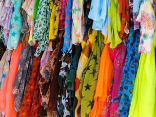 coloured scarves