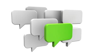 Sprechblasen - Konzept Idee, Kommunikation