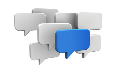 Sprechblasen - Konzept Meinung