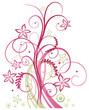Sommer, frame, Blumen, Ranke, pink, rosa