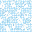 Baby boy clothes seamless pattern