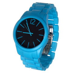blue wrist watches isolated on white