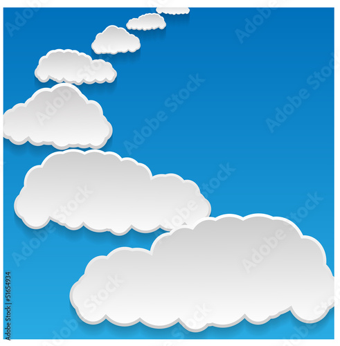 Aluminium Hemel clouds background