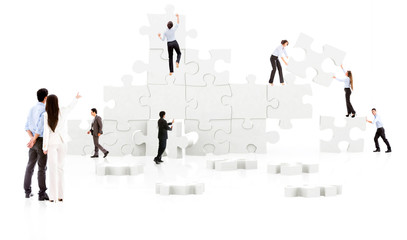 business teamwork - puzzle