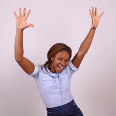 afrikanerin freut sich