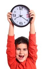 bambino mostra orologio