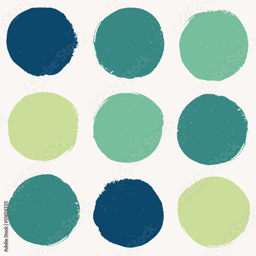 Color pattern with grunge circles
