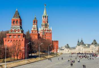 Moscow Kremlin, Red Square and GUM store.
