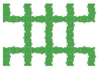 Tarak dikdörtgen puzzle